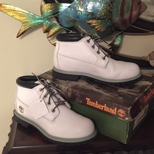 TIMBERLAND WOMEN'S NELLIE WHITE SMOOTH LEATHER 9